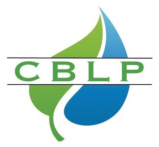 CBLP-Logo green leaf and blue water drop with the CBLP across the center